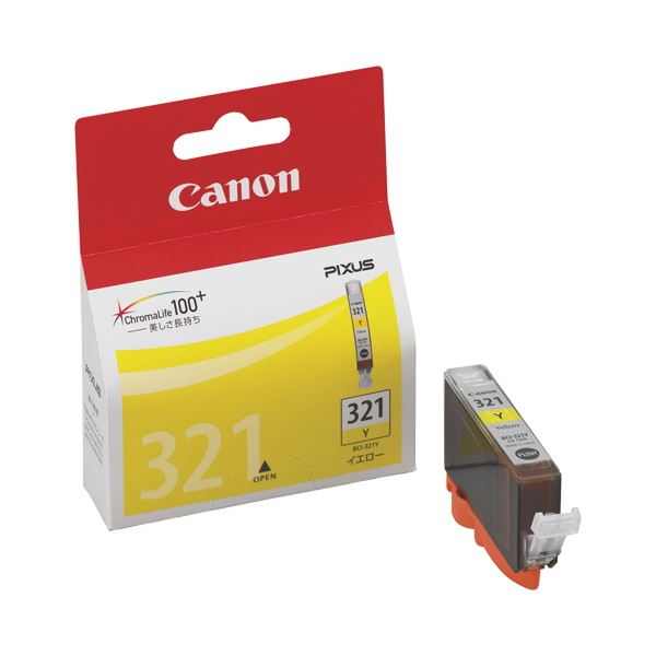 【送料無料】(まとめ) キヤノン Canon インクタンク BCI-321Y イエロー 2930B001 1個 【×10セット】