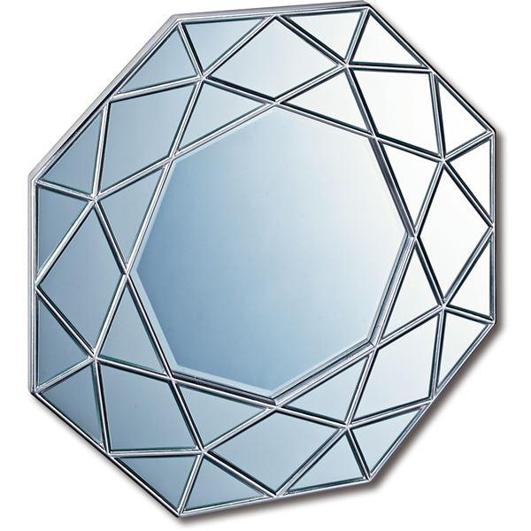 【送料無料】ダイヤモンドアートミラー DM-25002 アンティークシルバー