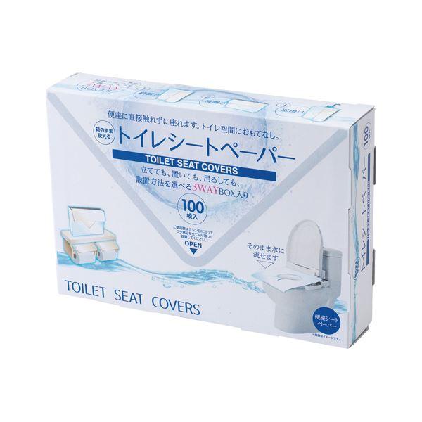 (まとめ) サンナップ 箱のまま使えるトイレシートペーパー 100枚入【×20セット】