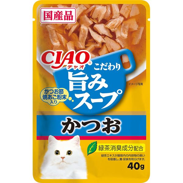 【送料無料】(まとめ)CIAO 旨みスープパウチ かつお 40g (ペット用品・猫フード)【×96セット】