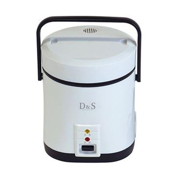 【送料無料】(まとめ)佐藤商事 D&Sミニライスクッカー ホワイト DS7703 1台【×3セット】