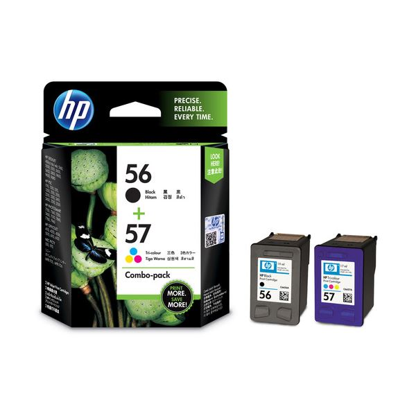【送料無料】(まとめ)HP HP56/57プリントカートリッジ 黒・カラー CC629AA 1箱(2個:各色1個)【×3セット】