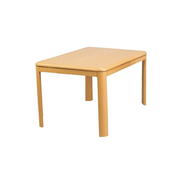 【送料無料】ダイニング こたつテーブル 本体 【幅105cm ナチュラル】 木製脚付き ヒーター:600WU字型 コントローラー付き 〔リビング〕