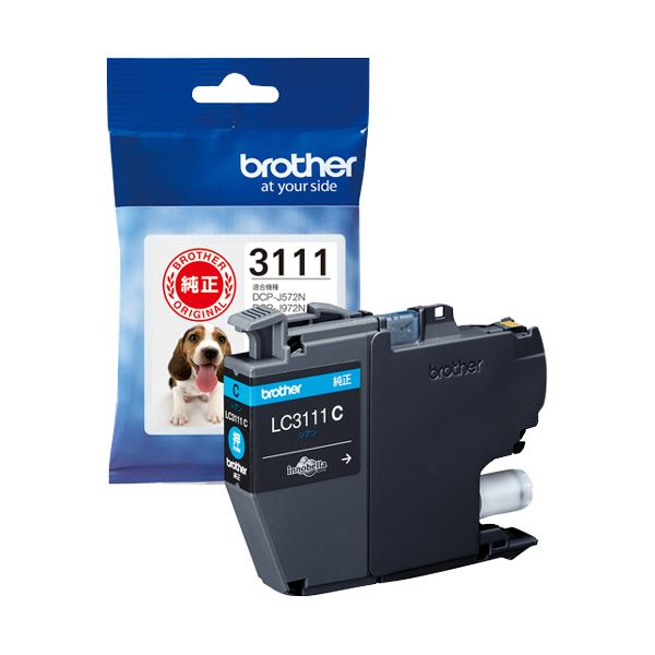 【送料無料】(まとめ) ブラザー インクカートリッジ シアンLC3111C 1個 【×10セット】
