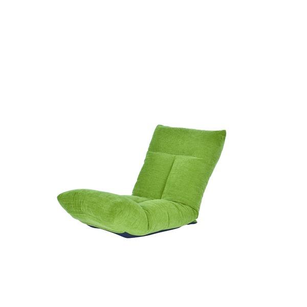 【送料無料】日本製 足上げ リクライニング リラックス 座椅子 リヨン グリーン