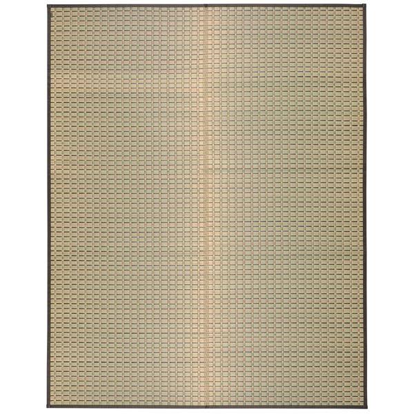 【送料無料】国産い草 ラグマット/絨毯 【約191×250cm】 日本製 裏貼り仕様 防滑加工 縁:綿100% 『山月 さんげつ』 〔リビング〕【代引不可】