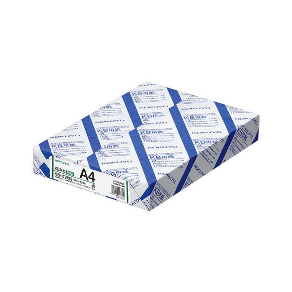 【送料無料】コクヨ KB用紙(共用紙)A4KB-KW39 1箱(2500枚:500枚×5冊)