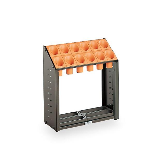 モダン 傘立て 【B12 オレンジ 12本立】 幅496mm スチール 樹脂製脚付 テラモト 『オブリークアーバン』 〔会社 店舗 玄関〕
