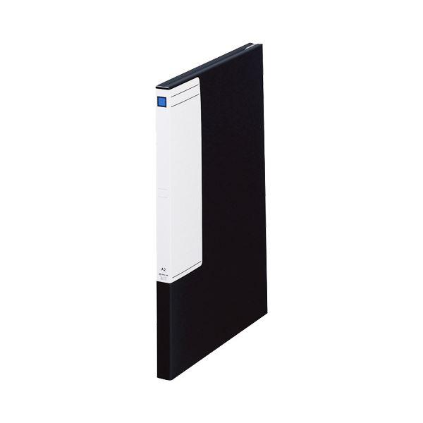 【送料無料】(まとめ)キングジム 図面ファイルGS A22つ折 背幅27mm 黒 1172 1セット(5冊)【×3セット】