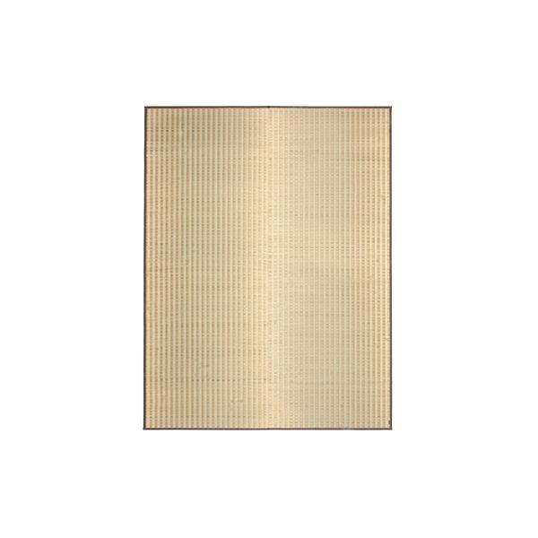 国産い草 ラグマット/絨毯 【約191×250cm】 日本製 縁:綿100% 『朝間 あさま』 〔リビング ダイニング〕【代引不可】