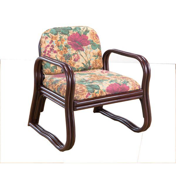 【送料無料】思いやり 座椅子/パーソナルチェア 【ミドルタイプ 幅約55cm×座面高約36cm】 天然籐製 軽量 耐荷重量:約80kg ウレタン【代引不可】