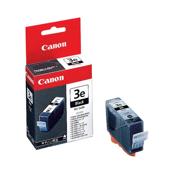 【送料無料】(まとめ) キヤノン Canon インクタンク BCI-3eBK ブラック 4479A001 1個 【×10セット】