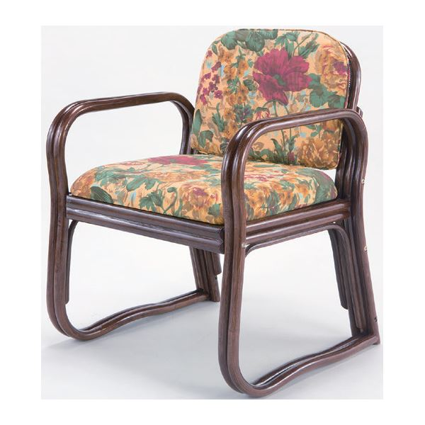 【送料無料】思いやり 座椅子/パーソナルチェア 【ハイタイプ 幅約55cm×座面高約44cm】 天然籐製 軽量 耐荷重量:約80kg ウレタン【代引不可】