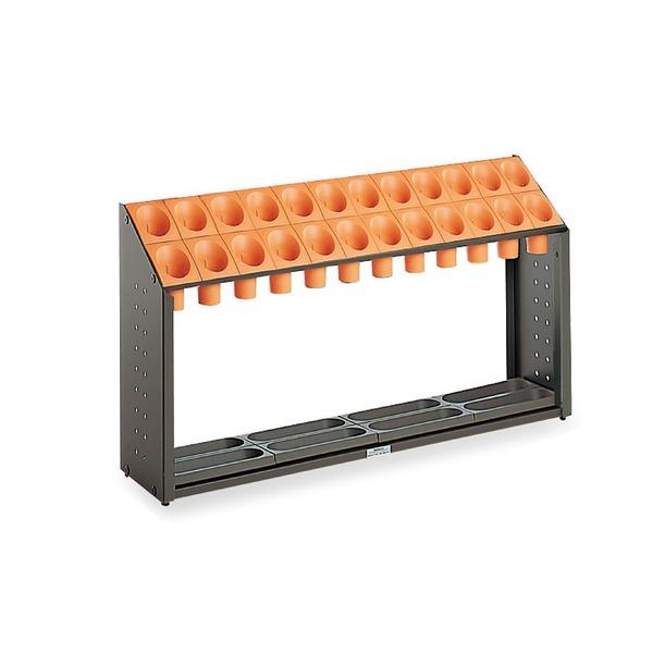モダン 傘立て 【B24 オレンジ 24本立】 幅972mm スチール 樹脂製脚付 テラモト 『オブリークアーバン』 〔会社 店舗 玄関〕
