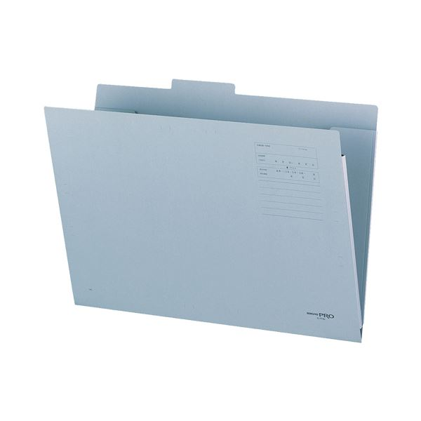 (まとめ) コクヨ 図面個別フォルダー A3 2つ折 青 セ-FF8B 1冊 【×30セット】