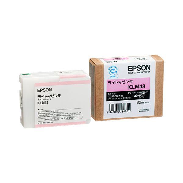 (まとめ) エプソン EPSON PX-P/K3インクカートリッジ ライトマゼンタ 80ml ICLM48 1個 【×6セット】