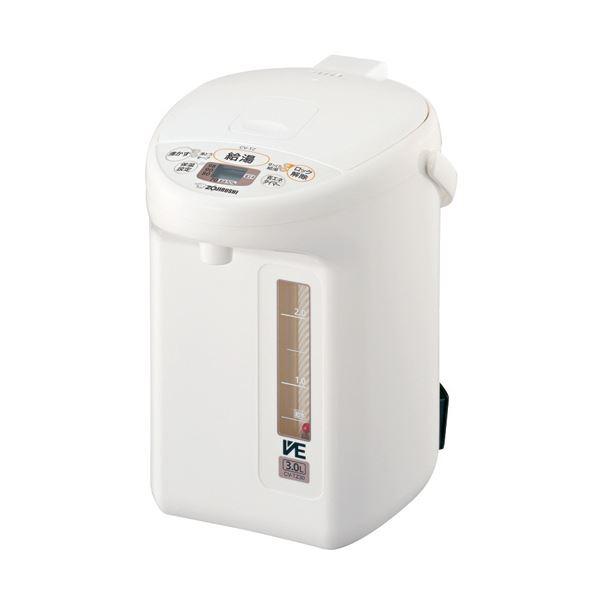 【送料無料】象印 マイコン沸とうVE電気まほうびん優湯生 3.0L ホワイト CV-TZ30-WA 1台