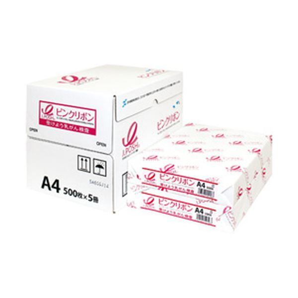 【送料無料】(まとめ)日本製紙 ピンクリボンPPC A4 1箱(500枚×5冊)【×3セット】
