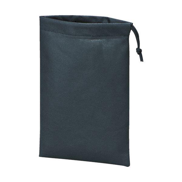 (まとめ) TRUSCO 不織布巾着袋 黒420×330×100mm TNFD-10-M 1袋(10枚) 【×10セット】