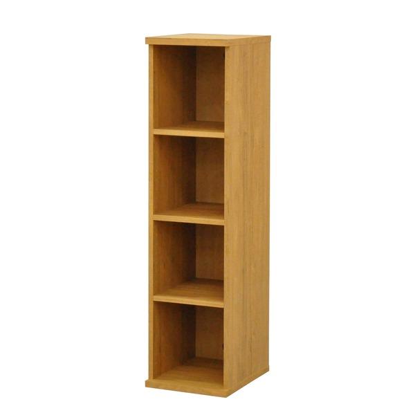 カラーボックス(収納棚/カスタマイズ家具) 4段 幅30×高さ120.3cm セレクト1230BR ブラウン【代引不可】