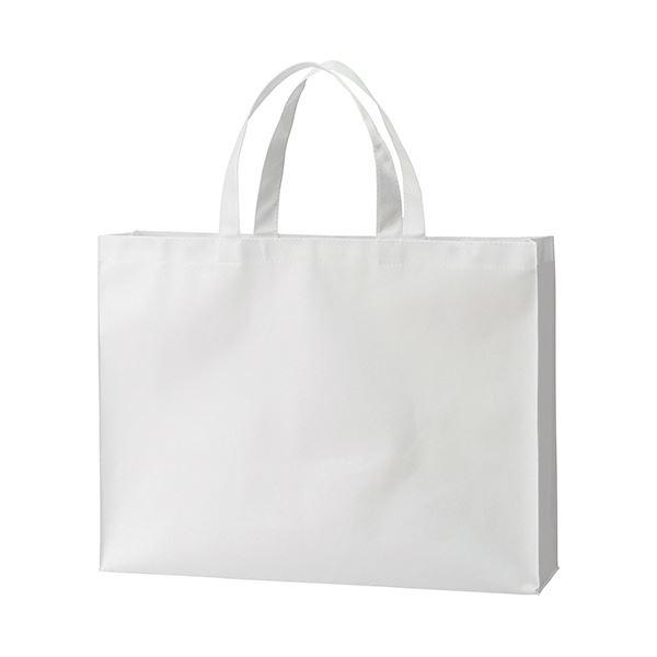 【送料無料】(まとめ) TANOSEE 不織布バッグ 大ヨコ530×タテ400×マチ幅120mm ホワイト 1パック(10枚) 【×10セット】