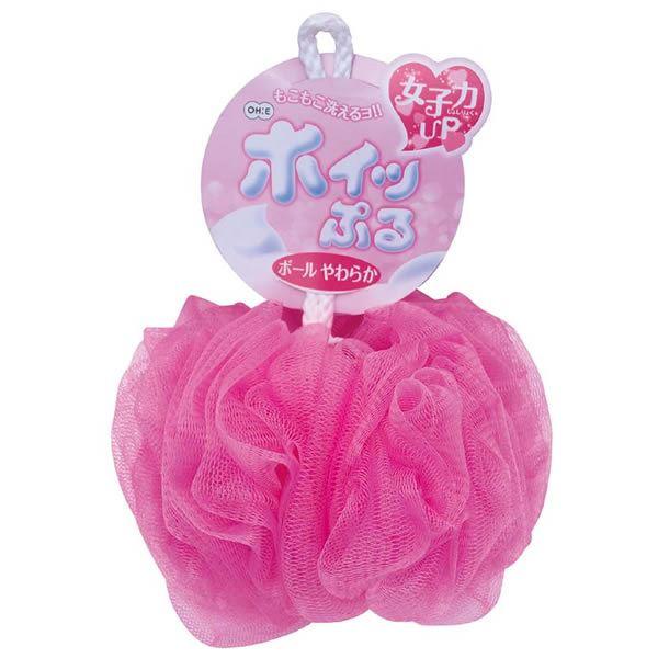【送料無料】(まとめ)オーエ ホイップル ボール ピンク やわらか 609510 (ボディスポンジ) 【120個セット】