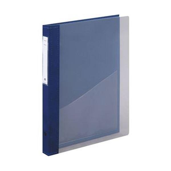【送料無料】(まとめ)リヒトラブ カルテブック(クリヤー)A4タテ 2穴 背幅28mm ブルー HB416-1 1冊【×5セット】