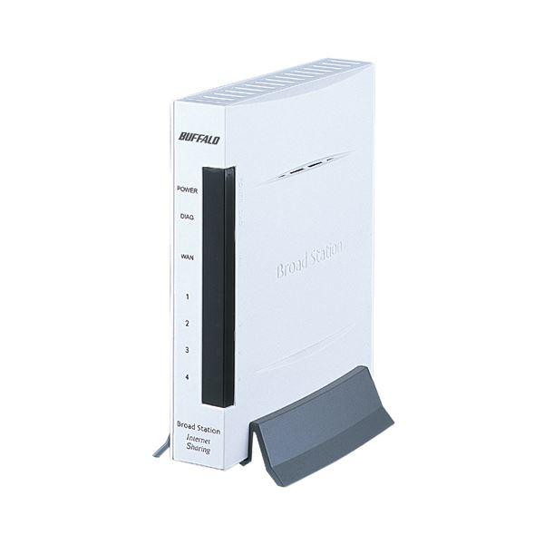 (まとめ) バッファロー有線BroadBandルータ BroadStation エントリーモデル BBR-4MG 1台 【×5セット】