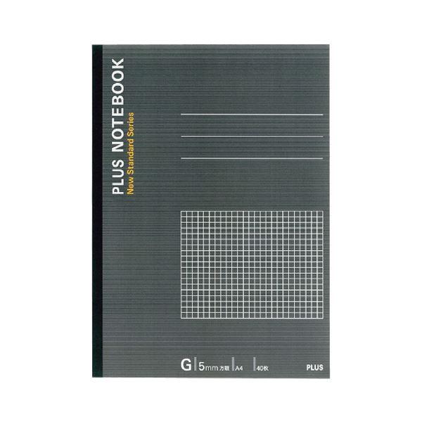 【送料無料】(まとめ) プラス ノートブック A4G罫5mm方眼 40枚 グレー NO-204GS 1冊 【×50セット】