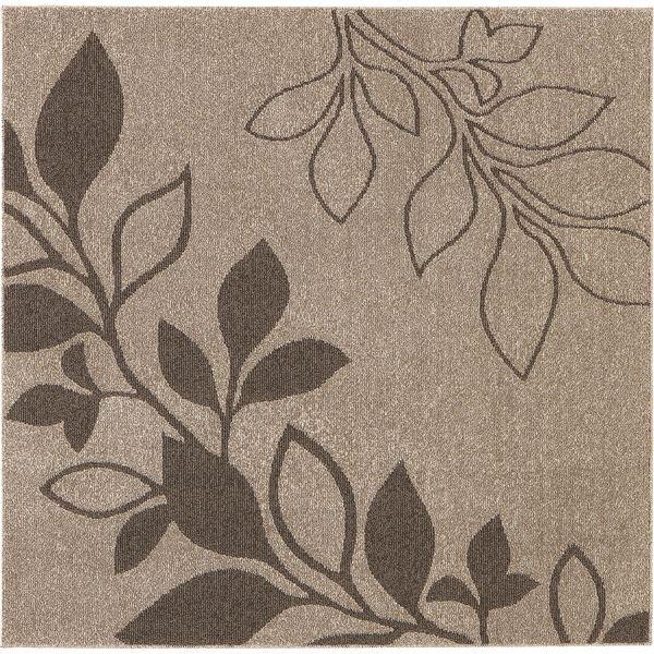 花粉ウイルス対策 ラグマット/絨毯 【185cm×185cm ブラウン】 正方形 日本製 折りたたみ 防ダニ 抗菌 防臭 通年 『アルブル』【代引不可】