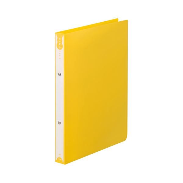 【送料無料】(まとめ) TANOSEE リングファイル(PP表紙) A4タテ 2穴 180枚収容 背幅31mm イエロー 1セット(10冊) 【×10セット】