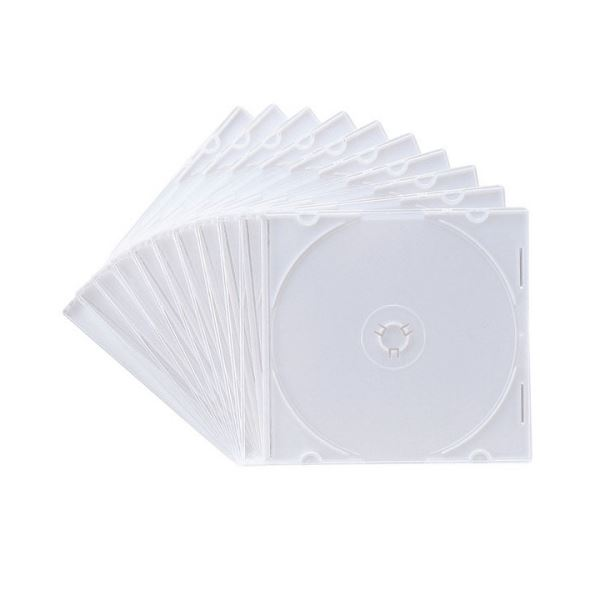 【送料無料】(まとめ) サンワサプライ DVD・CDケースマットホワイト FCD-PU10MW 1パック(10枚) 【×30セット】