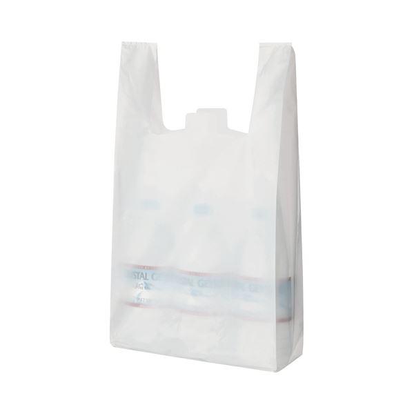 【送料無料】(まとめ) TANOSEE 乳白レジ袋 35号 ヨコ265×タテ540×マチ幅130mm 1パック(100枚) 【×30セット】