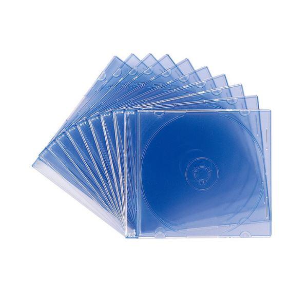 【送料無料】(まとめ) サンワサプライ DVD・CDケースクリアブルー FCD-PU10BL 1パック(10枚) 【×30セット】
