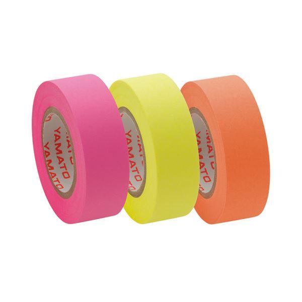 【送料無料】(まとめ) ヤマト メモック ロールテープ つめかえ用 15mm幅 オレンジ&レモン&ローズ RK-15H-C 1パック(3巻) 【×30セット】