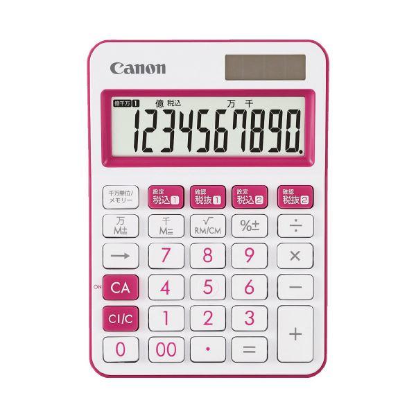 【送料無料】(まとめ)キヤノン ミニ卓上電卓 ピンク LS-105WUC-PK (×30セット)