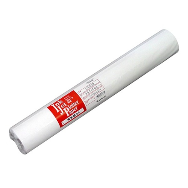 【送料無料】(まとめ)桜井 インクジェット用再生紙69 594mm×50m IJH69B 1箱(2本)【×3セット】