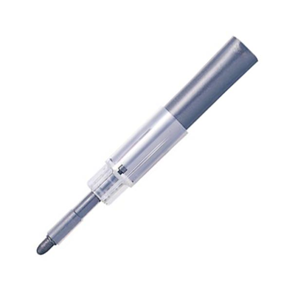 (まとめ) 三菱鉛筆 ホワイトボードマーカー ユニお知らセンサーカートリッジ 4mm丸芯 黒 PWBR1004M.24 1本 【×100セット】