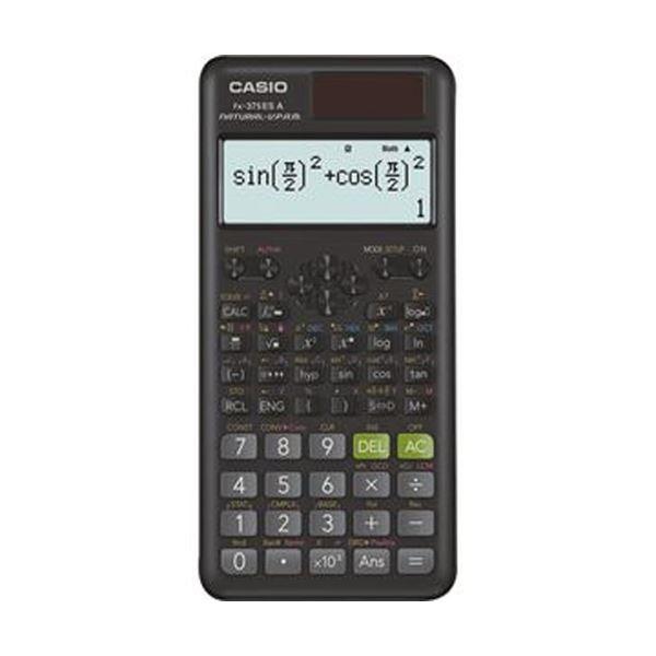 【送料無料】(まとめ)カシオ 関数電卓 10桁 ハードケース付FX-375ESA-N 1台【×5セット】