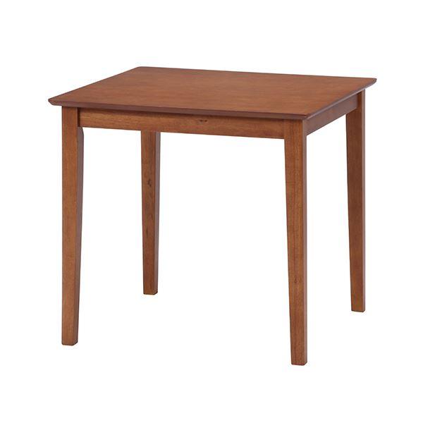 【送料無料】ダイニングテーブル/リビングテーブル 【ブラウン】 75×75cm 正方形 木製 アジャスター付き 『スノア』【代引不可】