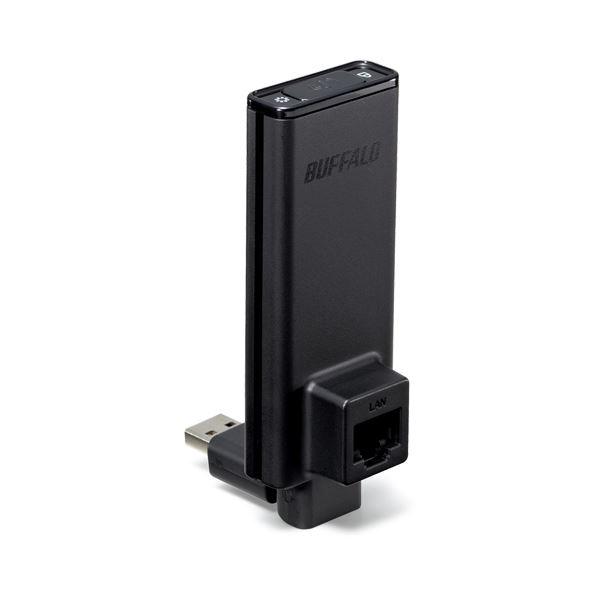 (まとめ)バッファロー AirStation簡単無線LAN子機 300Mbps 11n・a・g・b対応 WLI-UTX-AG300/C 1個【×3セット】