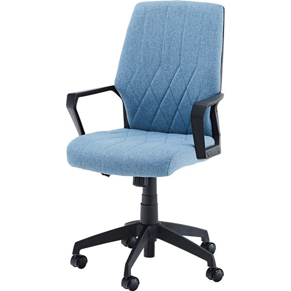 【送料無料】オフィスチェア ブルー W59×D63×H91~101×SH42~52cm 【組立品】