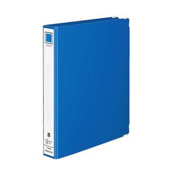 【送料無料】(まとめ)コクヨ リングファイル 色厚板紙表紙B5タテ 2穴 220枚収容 背幅44mm 青 フ-481NB 1セット(10冊)【×5セット】