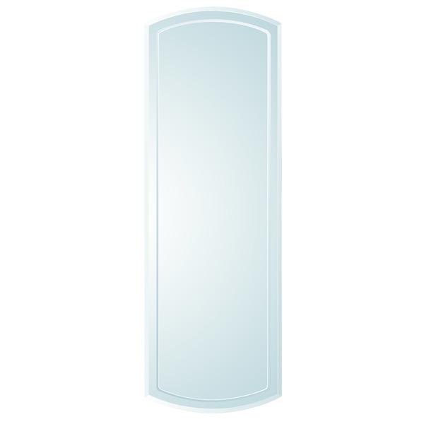 【送料無料】ノンフレーム ウォールミラー/壁掛け鏡 【SUC018】 飛散防止加工【代引不可】