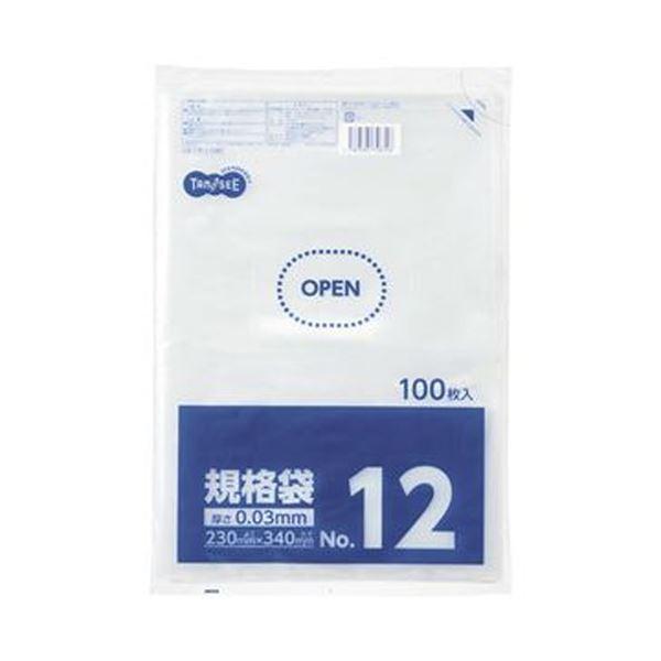 【送料無料】(まとめ)TANOSEE 規格袋 12号0.03×230×340mm 1セット(1000枚:100枚×10パック)【×5セット】