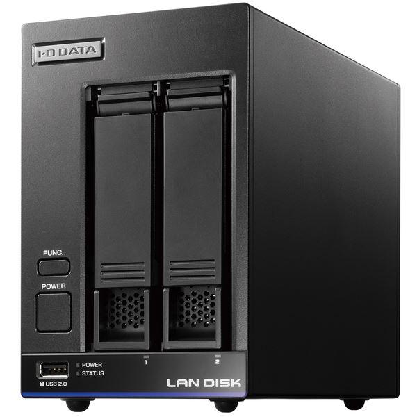 【送料無料】アイ・オー・データ機器 5年間の保守付き 40人程度の中規模オフィス向け2ドライブNAS「LAN DISK X」高性能CPU&NAS用HDD「WD Red」搭載 故障の予兆をお知らせ! 2TB
