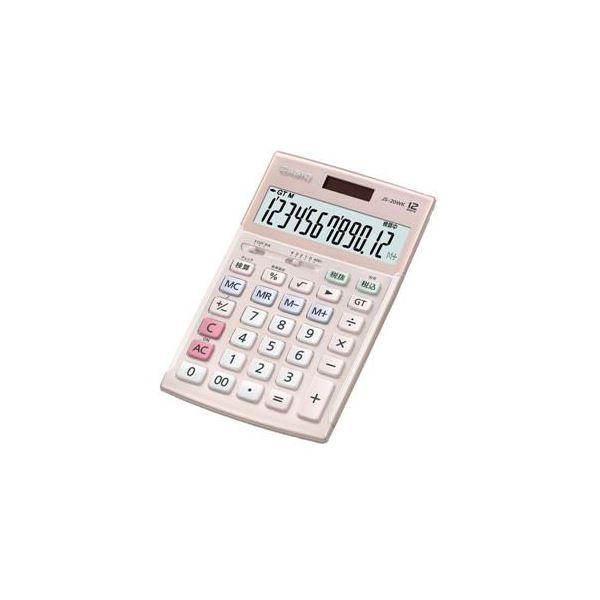 【送料無料】CASIO 本格実務電卓 12桁(ピンク) JS-20WK-PK