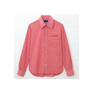 【送料無料】(まとめ) セロリー 大柄ギンガムチェック長袖シャツ SSサイズ レッド S-63413-SS 1枚 【×5セット】