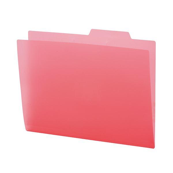 【送料無料】(まとめ) TANOSEE PP製個別フォルダーA4 ピンク 1パック(5冊) 【×30セット】