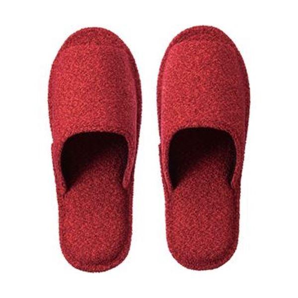 【送料無料】(まとめ)TANOSEE 外縫いソフトスリッパクリンプ 大きめM レッド 1足【×10セット】